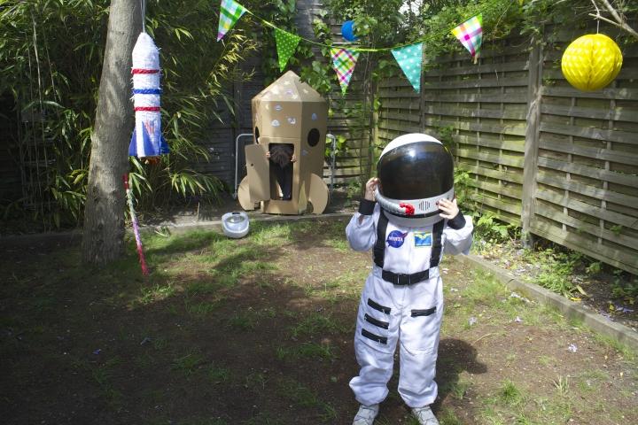 anniversaire thème espace cosmonaute astronaute