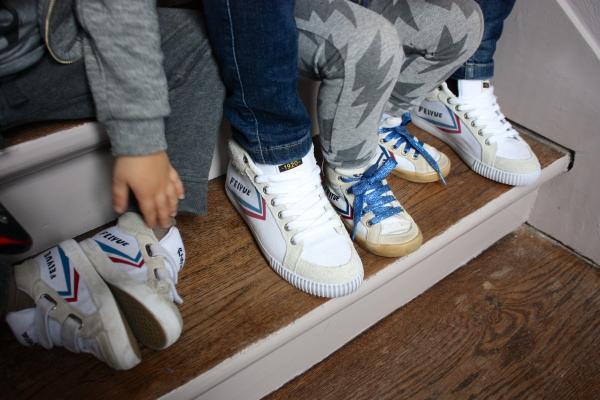 feiyue,baskets,mère fils