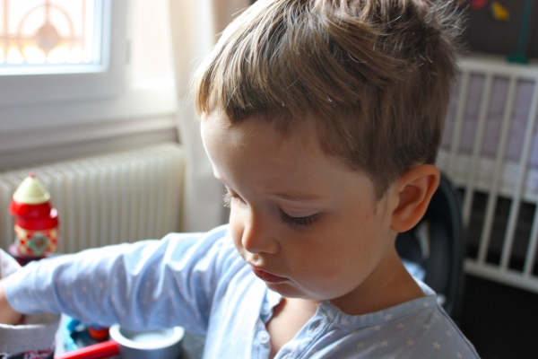 Couper les cheveux de mon fils